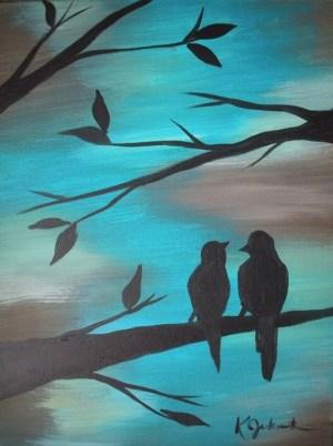 easy acrylic painting beginners
