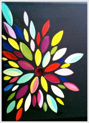 abstract easy painting simple flower paintings flowers beginners creative canvas colorful paint acrylic cartoondistrict artists previous totally awesome pages source