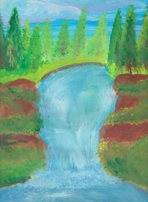 drawings easy oil painting pastel watercolor waterfalls still sketch source deviantart coloring