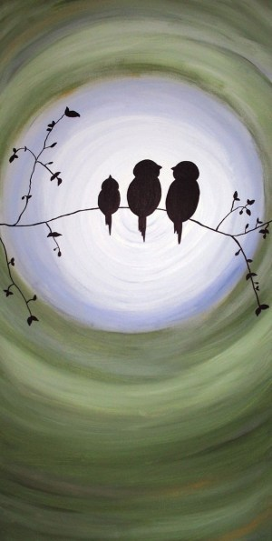 watercolor painting birds easy paintings beginners canvas bird drawing boa beginner noite watercolors silhouette malen rock indulgy outline drawings value