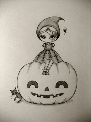 easy drawing charcoal cool drawings techniques halloween pencil try haloween cartoondistrict dessin cartoon juri ueda simple sketches beginners fille petite