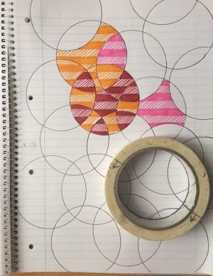 doodle simple designs paper lined