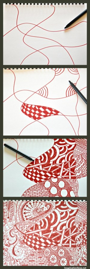 doodle simple designs zentangle line