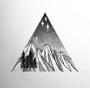 doodle simple designs easy drawing stippling doodles drawings ink sketch cartoondistrict triangle visit pen