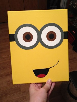 canvas easy painting disney paint things minion paintings simple drawing canvases mini diy cartoondistrict acrylic carlie very pain discover source