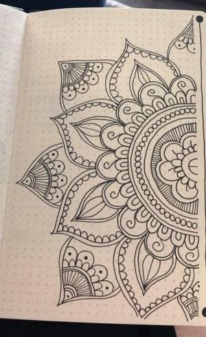 draw easy cool bored mandala simple drawings slowly begin