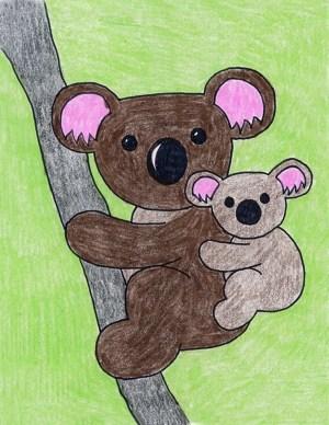 koala bear drawing draw creative kid projects drawings easy topics artprojectsforkids pdf crafts painting cartoon australia bears canvas tutorial project