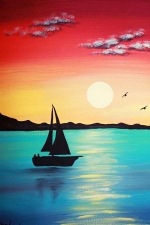 canvas easy painting acrylic cartoon source