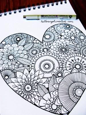 cool drawings simple kill cartoon doodles heart source