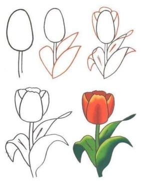 flower easy beginners drawings simple cartoon source