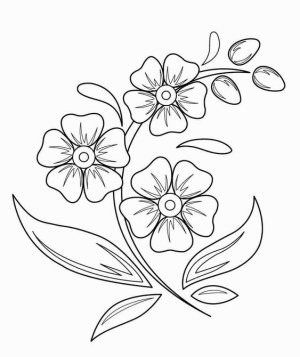 flower flowers easy drawing drawings simple step vase beginners draw sketch coloring sketches chutuananh designs printable embroidery pretty marigold getdrawings