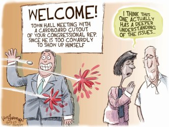 The Town Hall Comics And Cartoons The Cartoonist Group