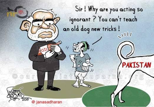 indo-pak-relation cartoon by Nituparna Rajbongshi