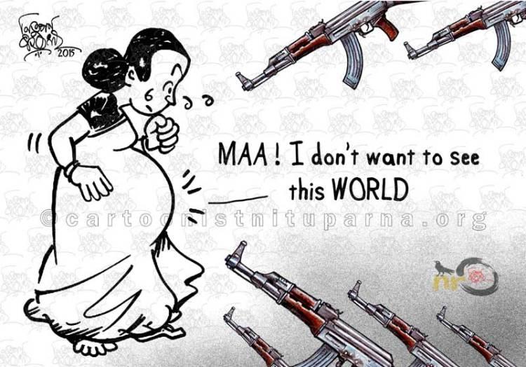 World of terror cartoon by Nituparna Rajbongshi