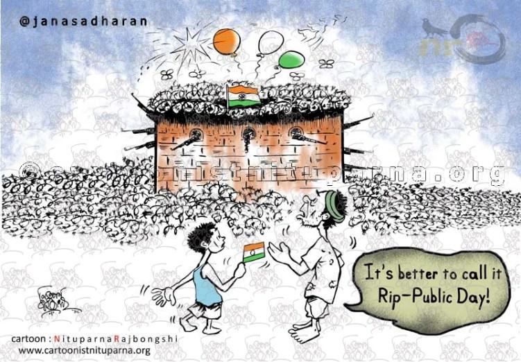 Republic-Reality cartoon by Nituparna Rajbongshi x