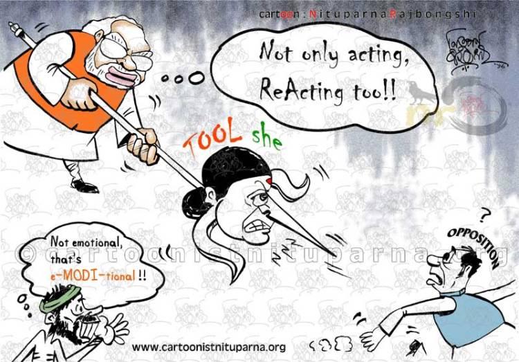 Blazing-Tool-She !! cartoon by Nituparna Rajbongshi