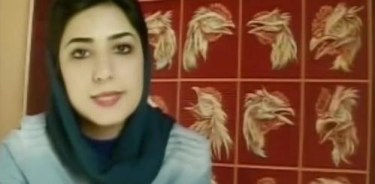 Artist/activist Atena Farghadani, from a Youtube posting