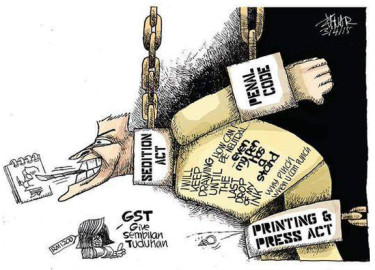 Zunar's cartoon response to latest sedition charges