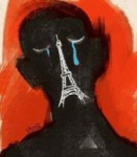 Hadi Hadeiri cartoon in response to Nov. 13 terrorist attacks in Paris