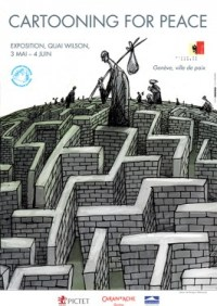 Cartooning For Peace cartoon exhibition poster