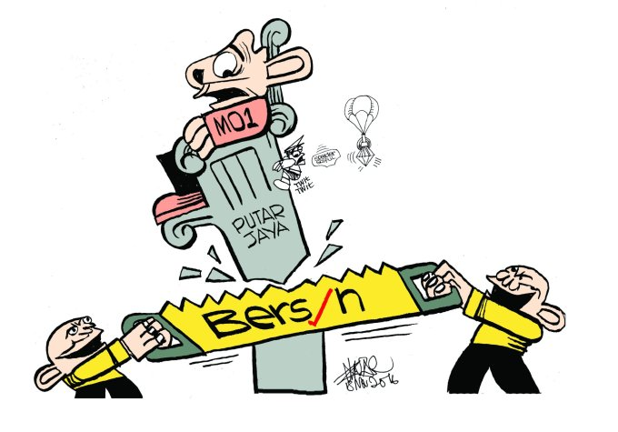 Cartoon by Zunar in support of Bersih5 protests.
