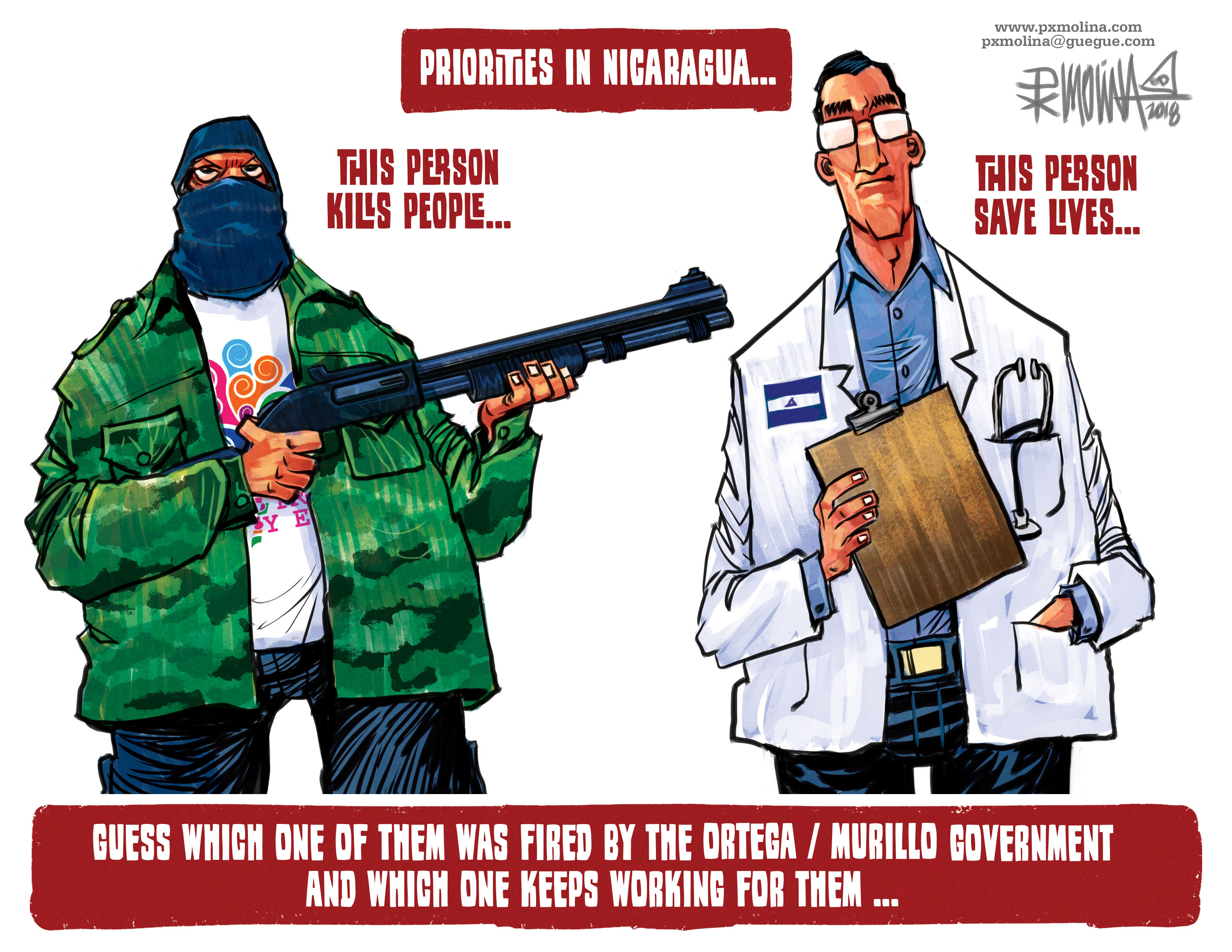 Molina cartoon priorities