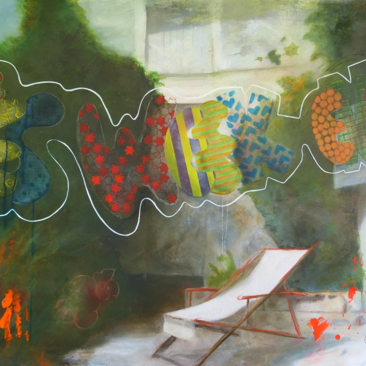 Yes week end, 2014, acrylique sur toile, 190,5x119,6 cm, signée, ©all rights reserved.