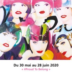 """Carton de l'exposition """" #Pround to belong"""" Juin 2020 ©all rights reserved."""