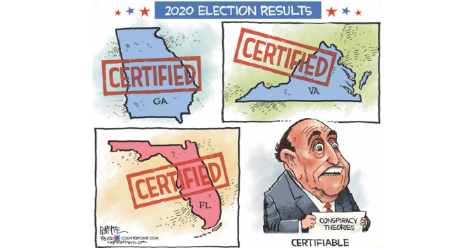 Rudy Certifiable by Rick McKee, Counterpoint
