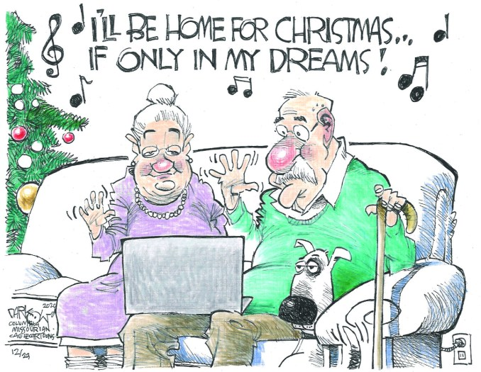 I'll Be Home for Christmas by John Darkow, Columbia Missourian