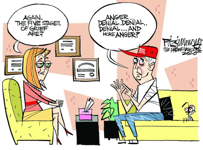 Stages of Grief by David Fitzsimmons, The Arizona Star, Tucson, AZ