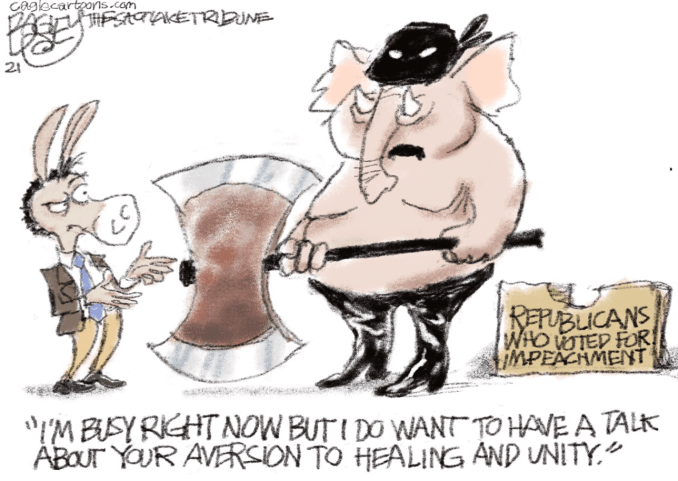 Axing for a Friend by Pat Bagley, The Salt Lake Tribune, UT