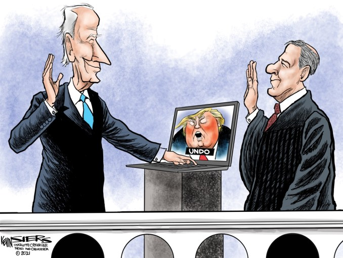 Biden Inaugural by Kevin Siers, The Charlotte Observer, NC