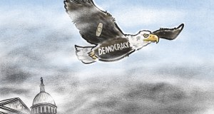 Democracy's Return to Flight by Jeff Koterba, CagleCartoons.com