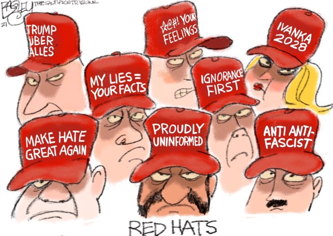 MAGA Hatters by Pat Bagley, The Salt Lake Tribune, UT