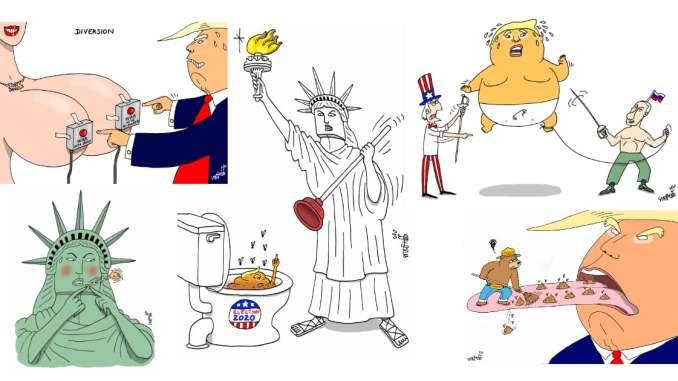 Trump's Four Years Chronicled by Political Cartoonist Stephane Peray