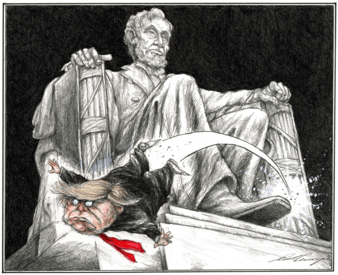 Trump and Lincoln by Dale Cummings, Canada, PoliticalCartoons.com