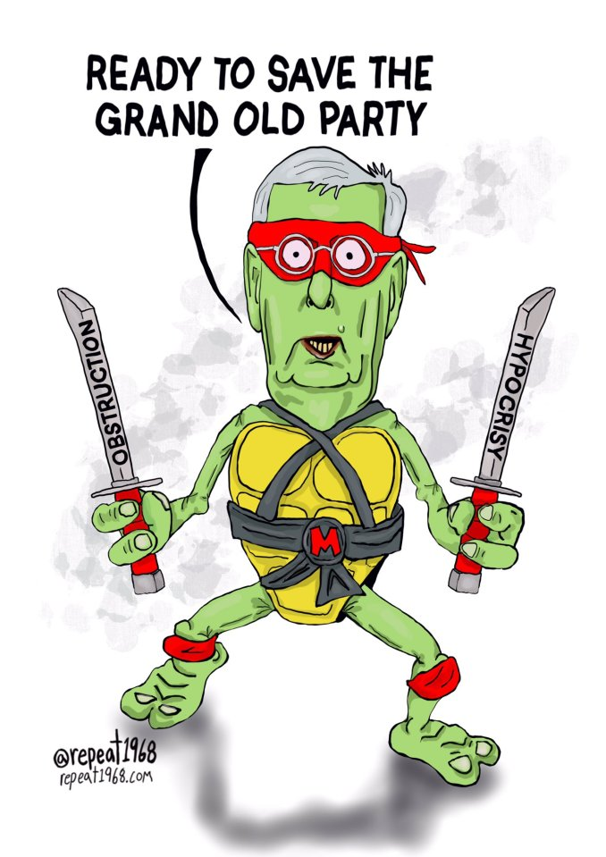 Ancient Mutant Ninja Turtle to the Rescue by John Buss @repeat1968