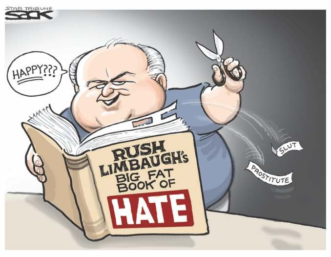 Book of Hate by Steve Sack, 2012 The Minneapolis Star Tribune
