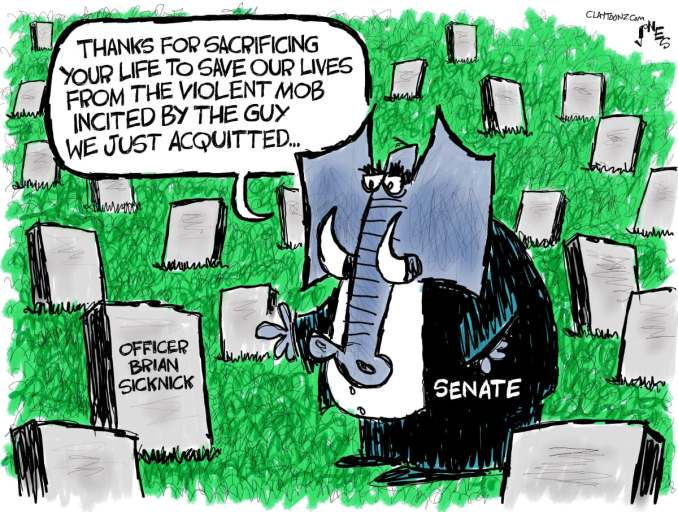 Brian Sicknick Sacrifice by Clay Jones @claytoonz