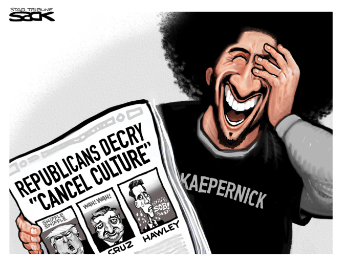 Cancellers Cancelled by Steve Sack, The Minneapolis Star-Tribune, MN