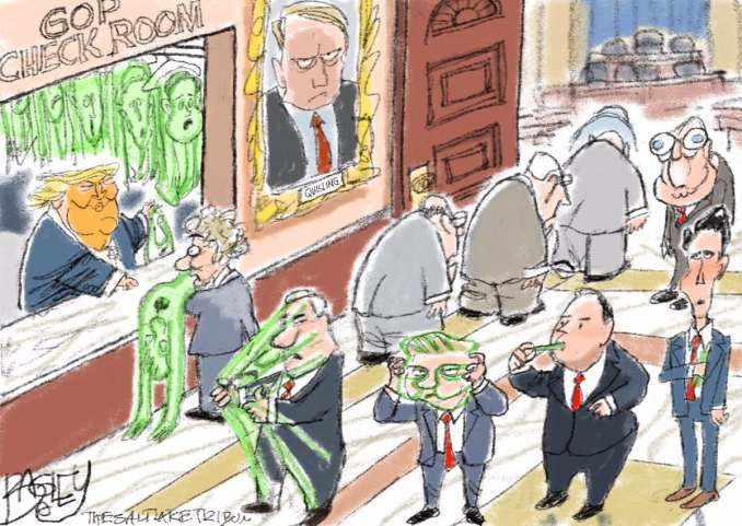 Checking One's Soul at the Door by Pat Bagley @Patbagley