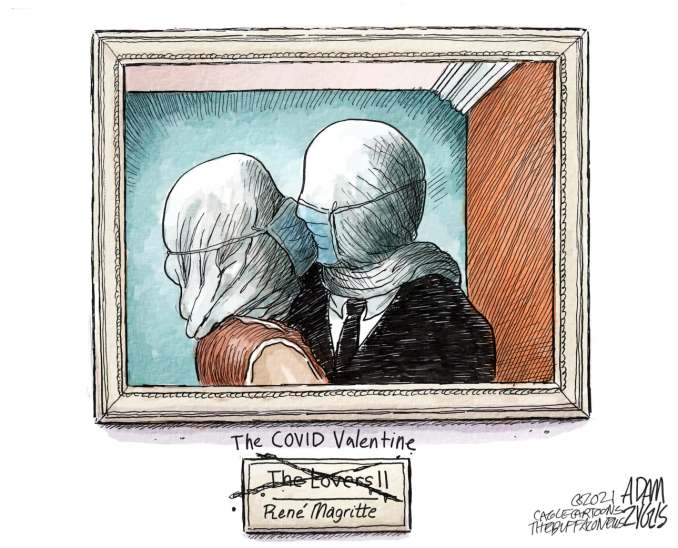 Covid Valentine by Adam Zyglis, The Buffalo News, NY