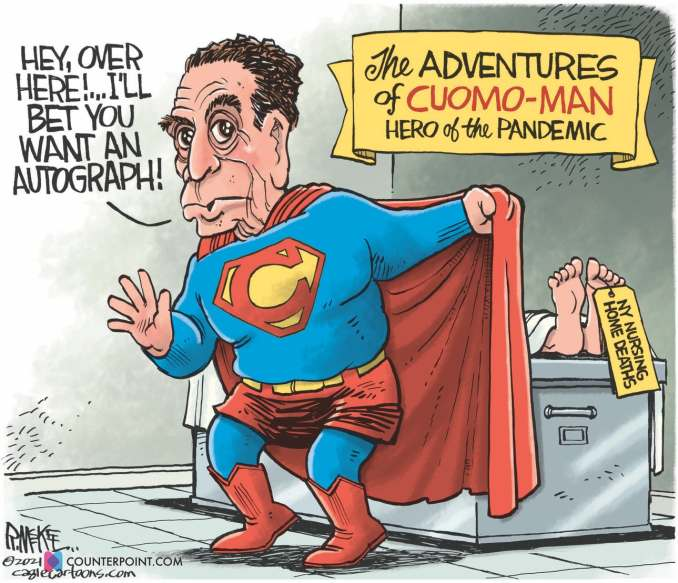 Cuomo Man by Rick McKee, Counterpoint