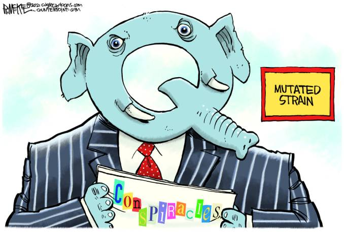 GOP MUTATED STRAIN by Rick McKee, CagleCartoons.com