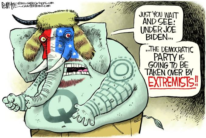 GOP QANON by Rick McKee, CagleCartoons.com
