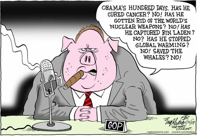 GOP Swine COLOR by Bob Englehart, 2009 PoliticalCartoons.com