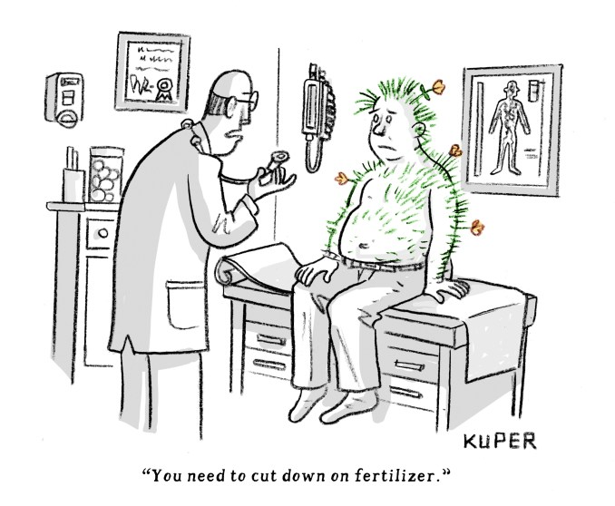 Health Recommendation by Peter Kuper