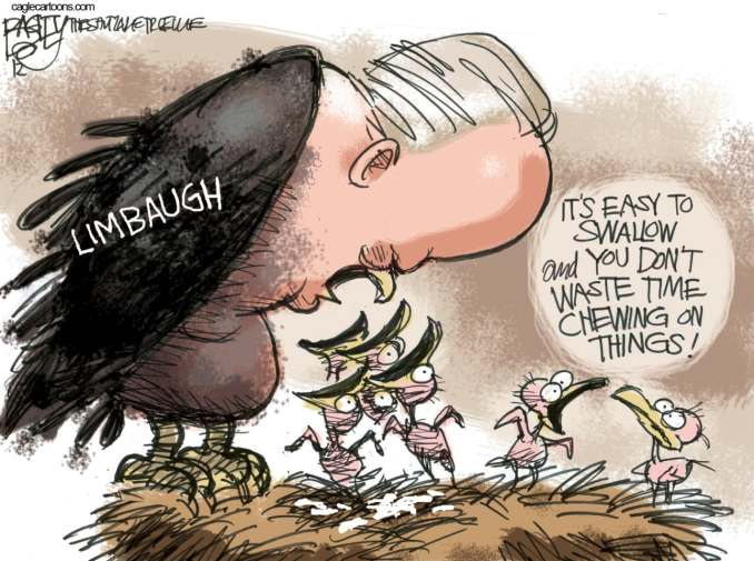 Limbaugh Spews by Pat Bagley, 2012 Salt Lake Tribune