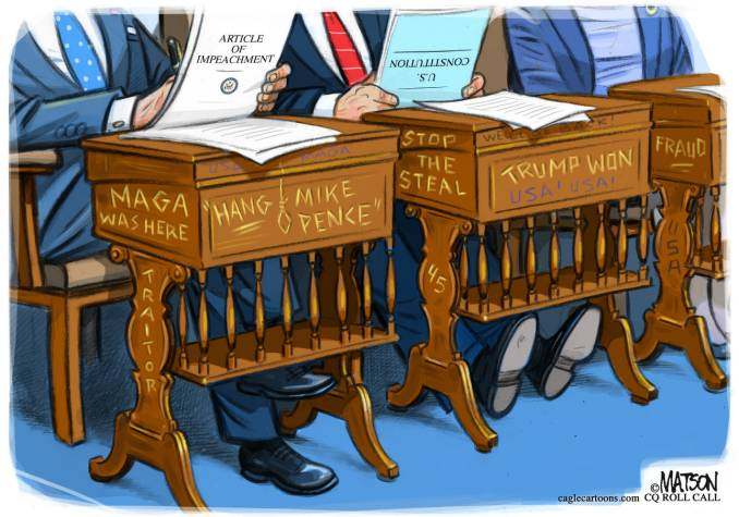 MAGA Graffiti on Senate Floor by R.J. Matson, CQ Roll Call
